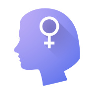 Purple female head icon
